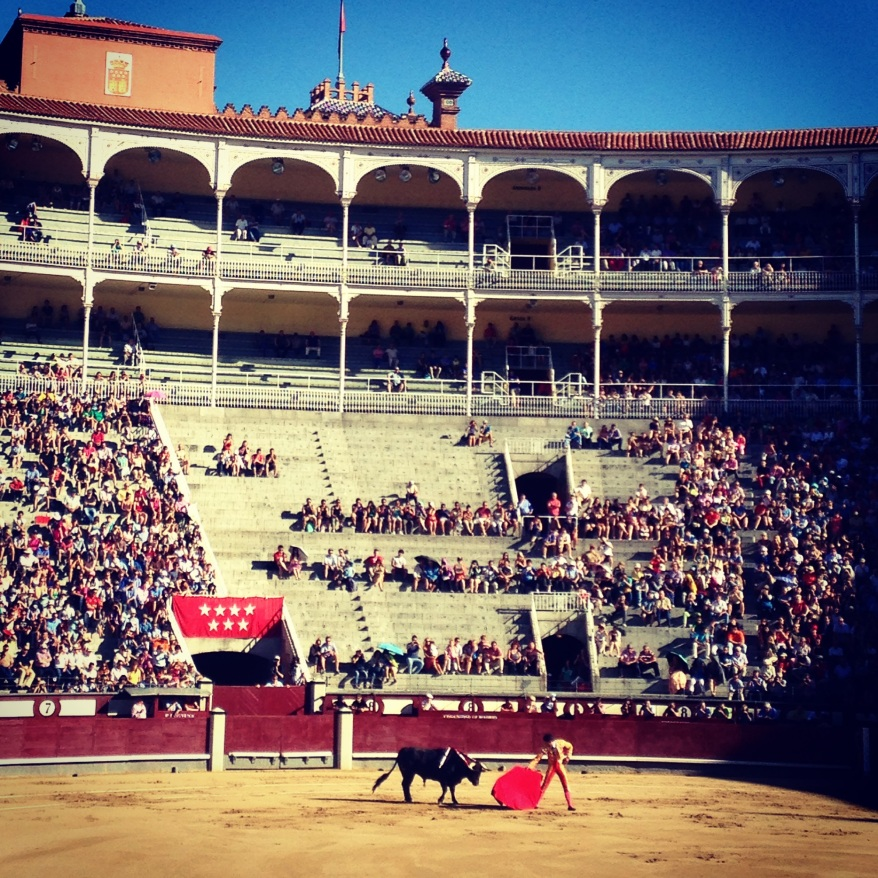 Bullfighting in Las Ventas bullring Madrid