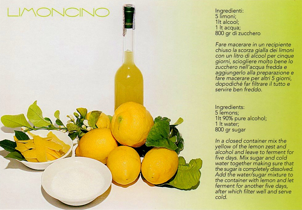 Postcard Of The Week Limoncello Recipe The Well Travelled Postcard