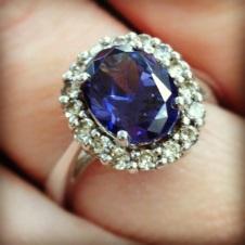 My sapphire & diamond ring