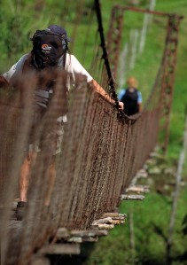 High rope walking
