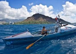 Roz Savage arrives in Honolulu Hawaii