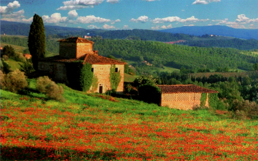 View over Tuscany