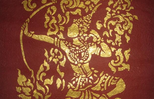 Golden Wall Art in Laos