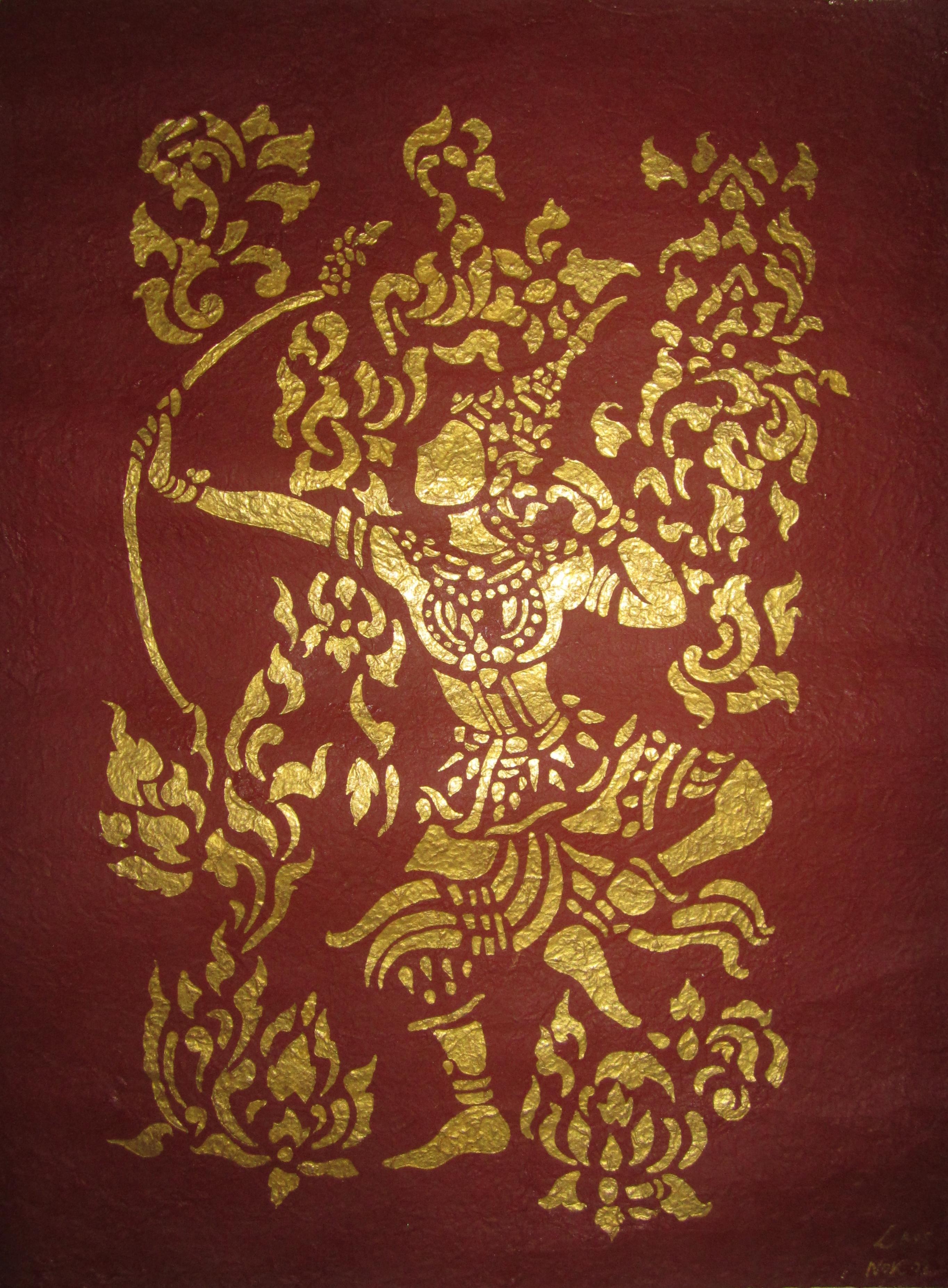 Art Golden Wall Art In Laos The Well Travelled Postcard