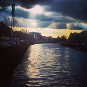 View over the Liffey River
