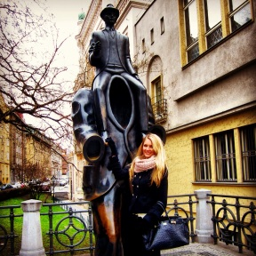 The Kafka statue