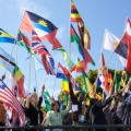 World Flags at One YoungWorld