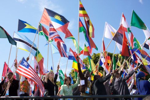 World Flags at One Young World