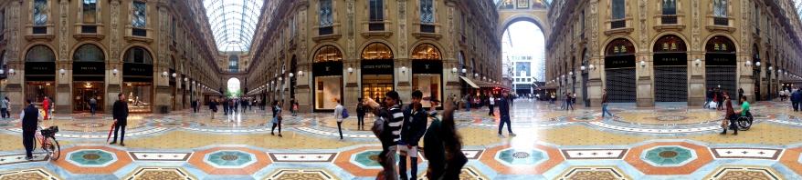 Panorama of Galleria Vittorio Emanuele II