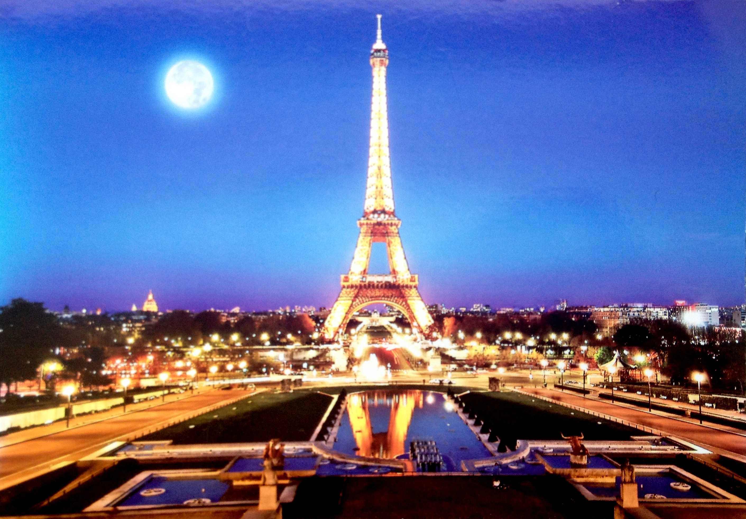 The Eiffel Tower At Night Paris