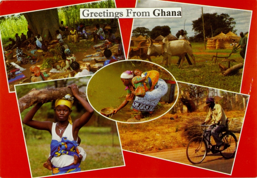 Greetings from Ghana postcard
