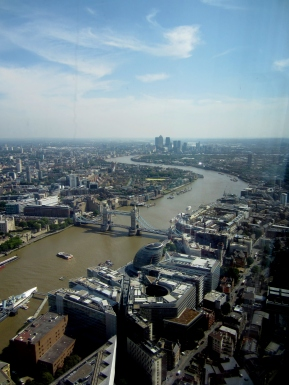 View over Tower Bridge from the Shard
