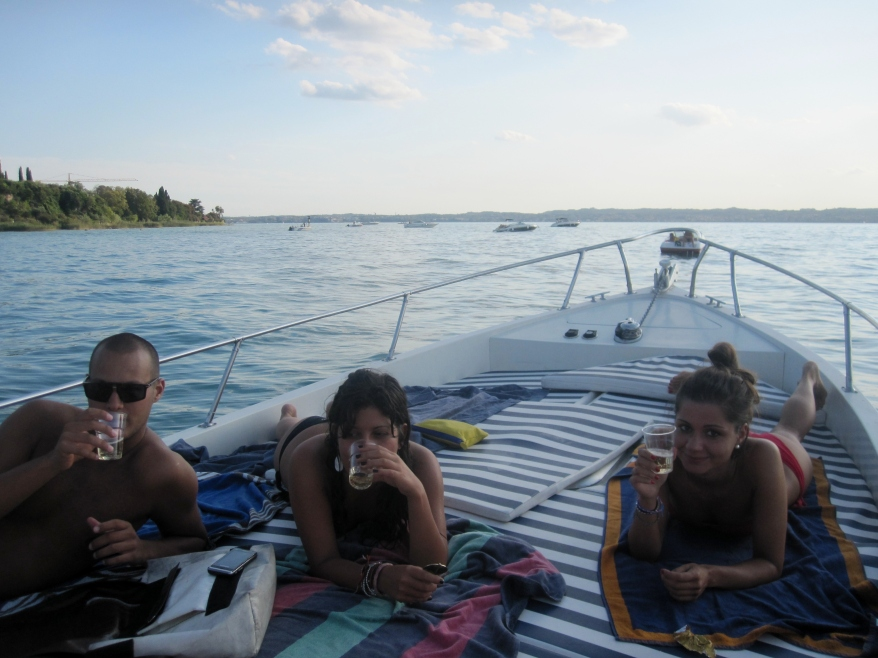 Italian friends at Lake Garda