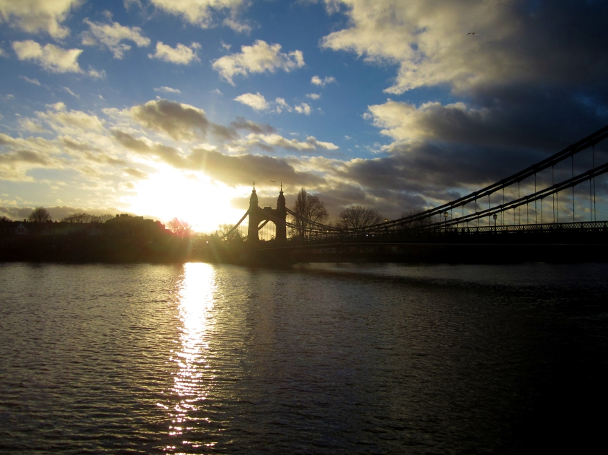 Hammersmith Bridge by day