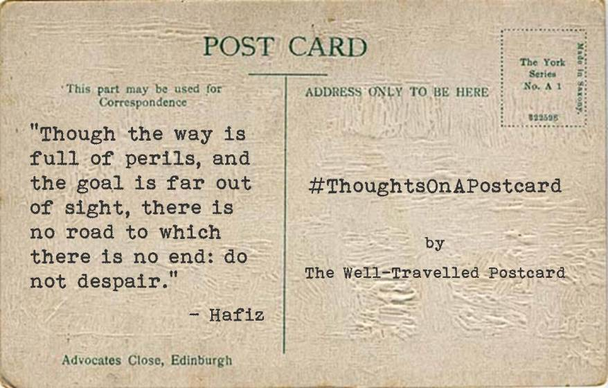 #ThoughtsOnAPostcard no.2
