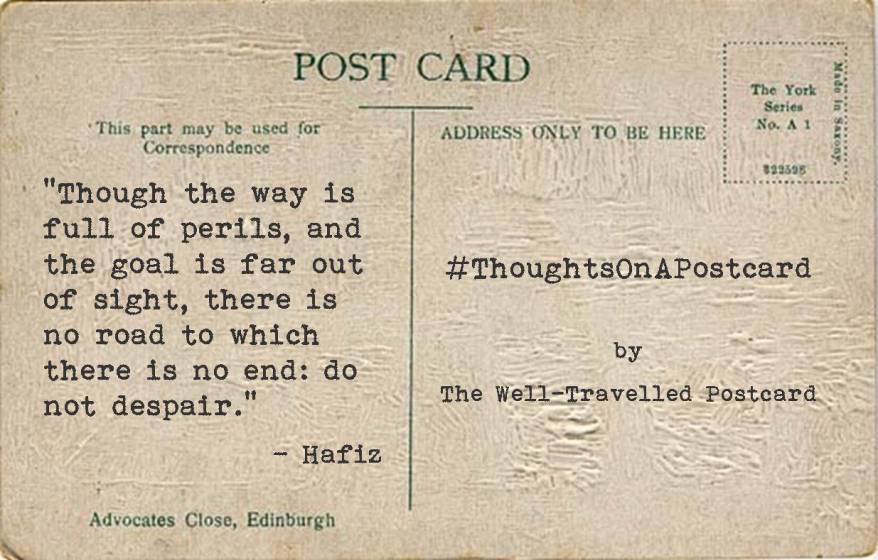 #ThoughtsOnAPostcard no.2