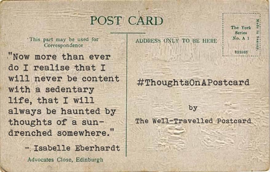 #ThoughtsOnAPostcard no.5