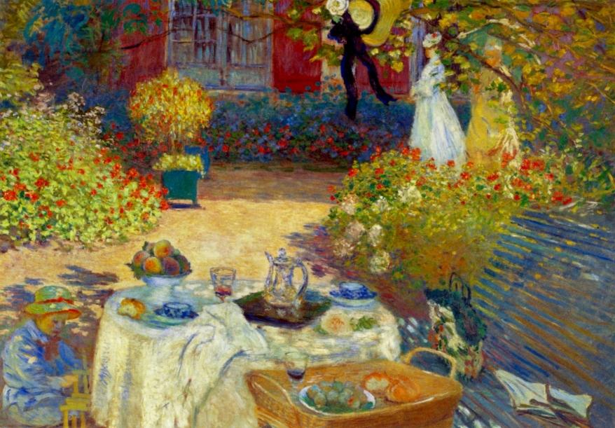 Le Déjeuner; panneau decorative - Claude Monet