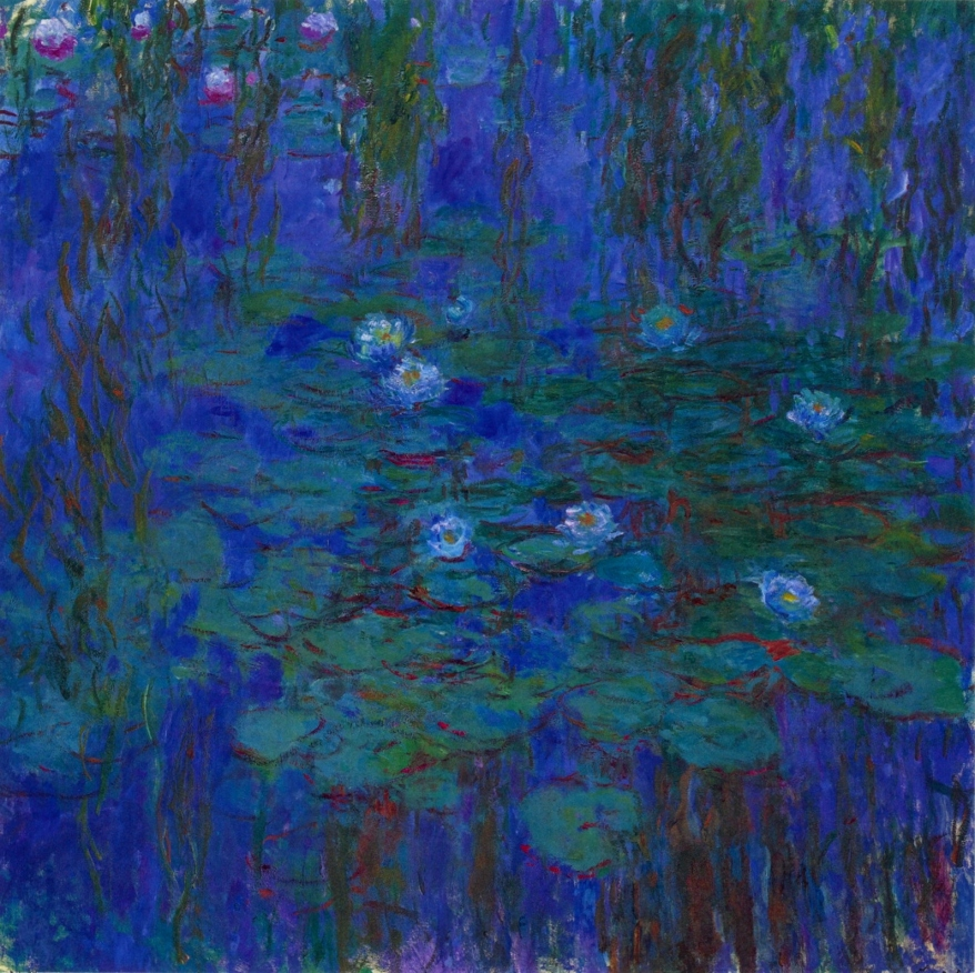 Nymphéas bleus - Claude Monet