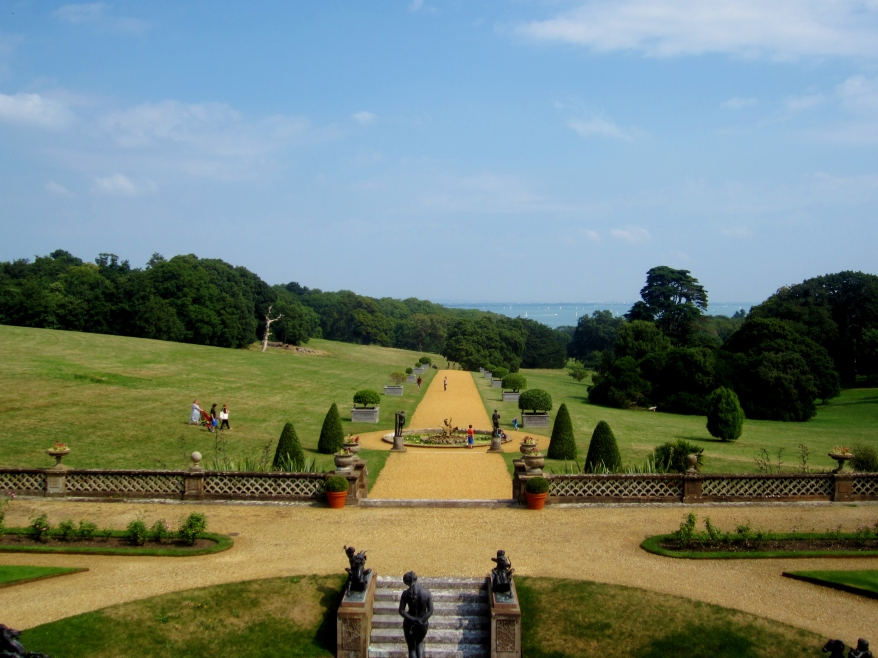 The view from Osborne House, the Isle of Wight