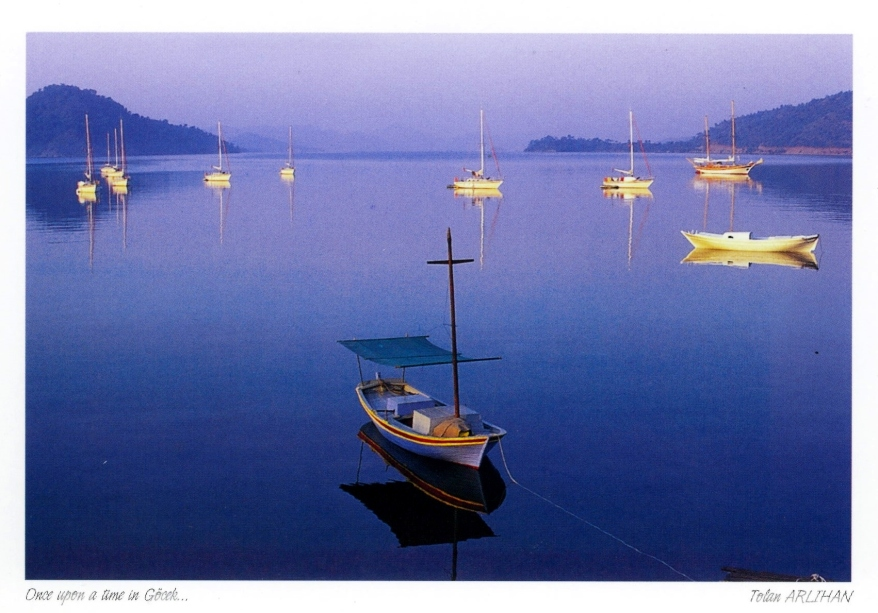 Postcard of boat in Gocek