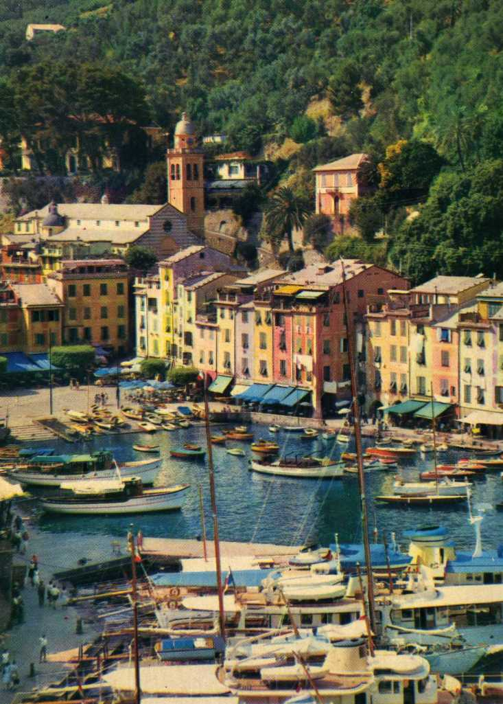 Antique postcard of the Ligurian Coast