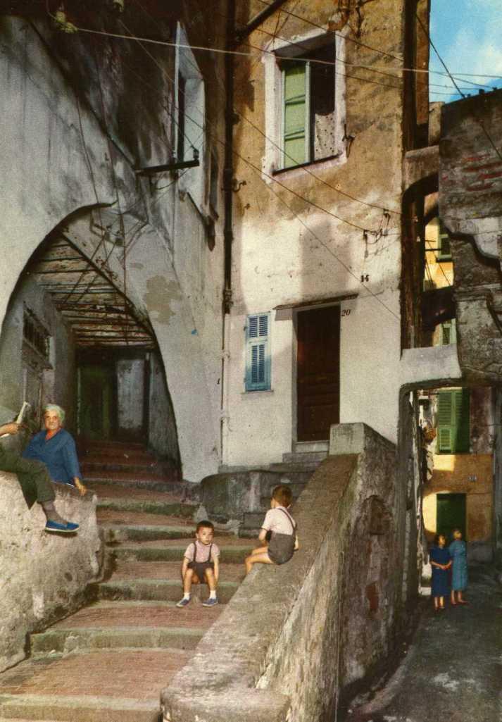 Antique postcard of Genoa