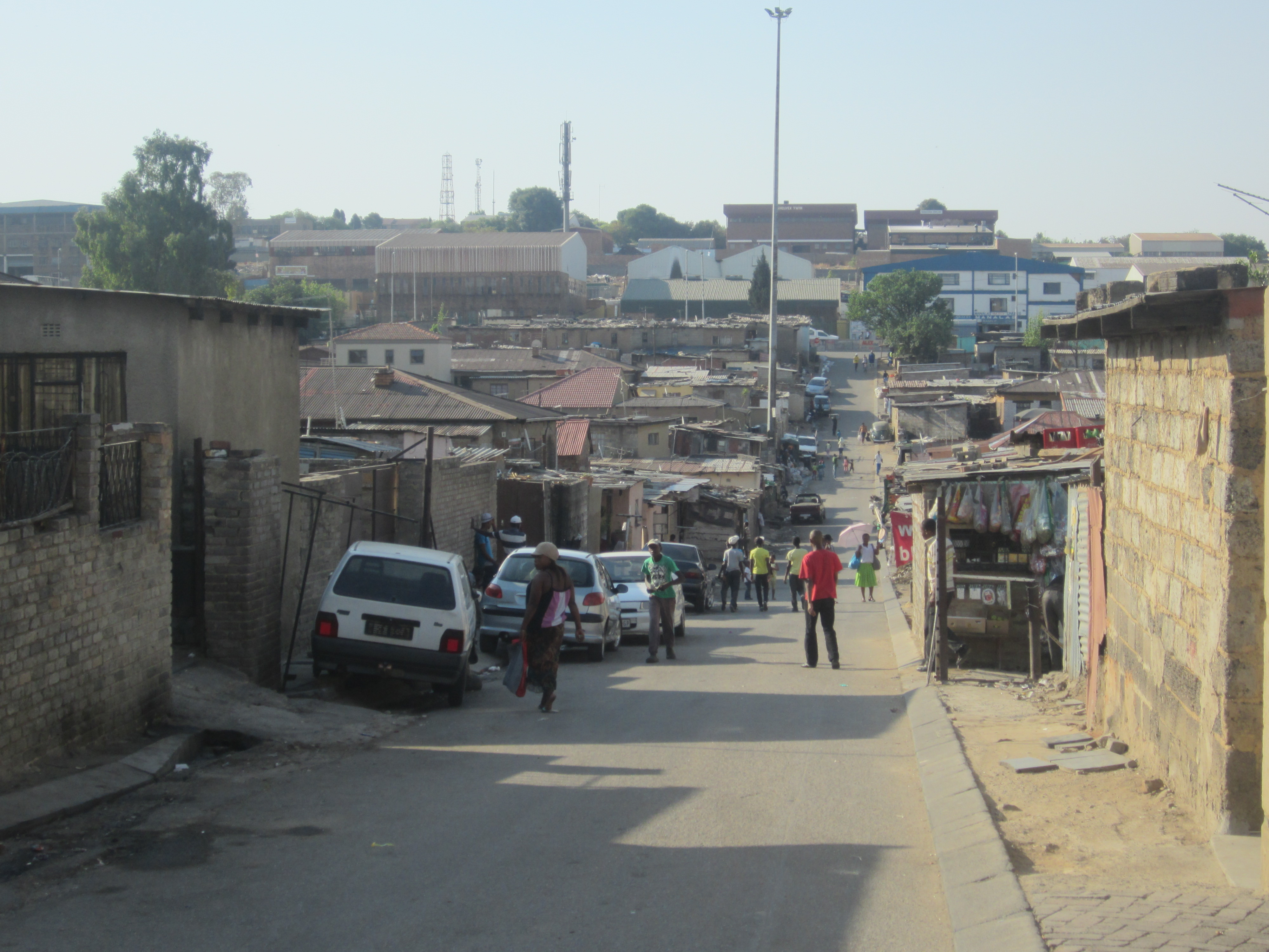 Visiting Alexandra Township In Johannesburg With One Young