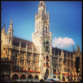 The cathedral in Marienplatz