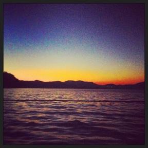 Sunrise onboard the yacht