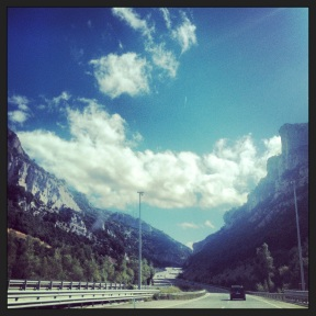 Driving from Bilbao to Villafranca