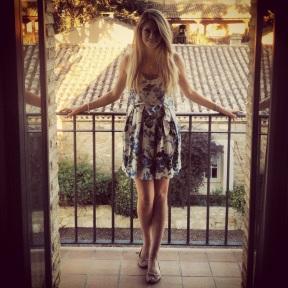 On our Balcony in Villa Marcilla