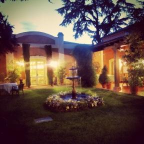 The reception venue at Villa Marcilla
