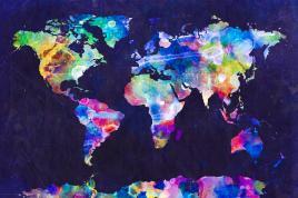world-map-urban-watercolor-michael-tompsett