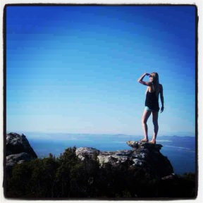 On top of Table Mountain, Cape Town