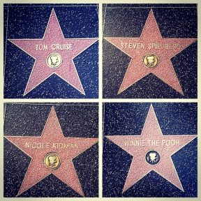 Walk of Fame stars on Hollywood Boulevard