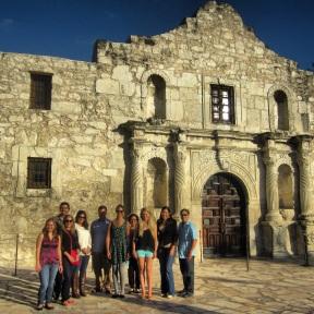 Outside the Alamo, San Antonio