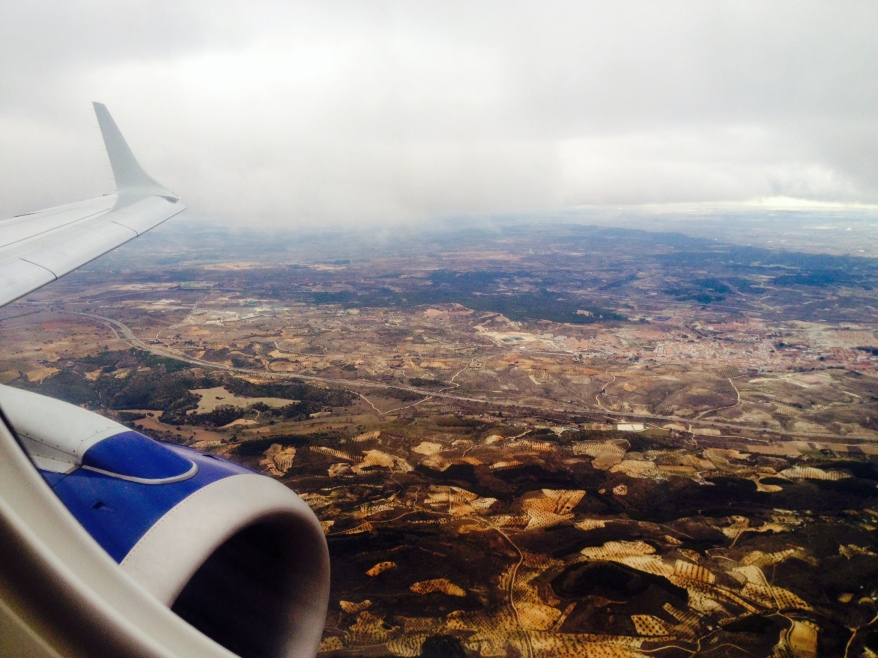 Madrid from the plane