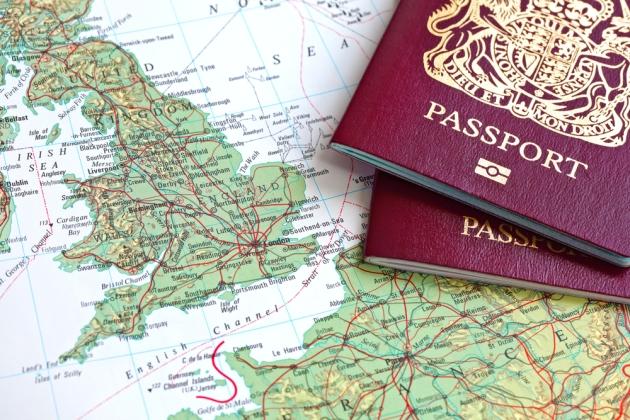 British Passport Map Great Britain