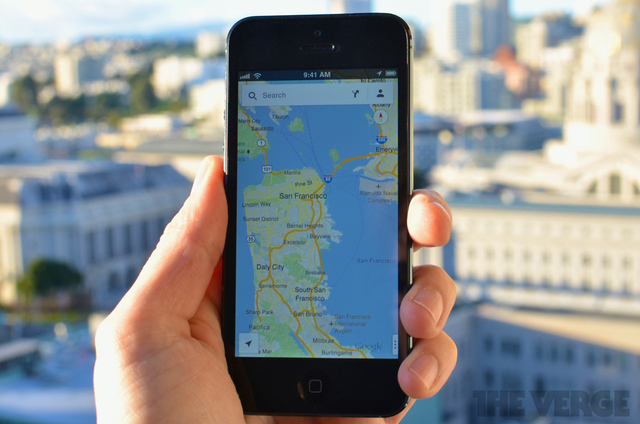 Google Maps on iPhone