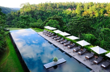 The pool at the Alila Ubud Boutique Hotel