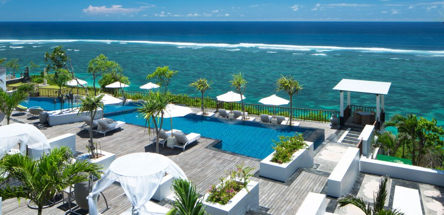 The divine pool at the Samabe Resort in Bali