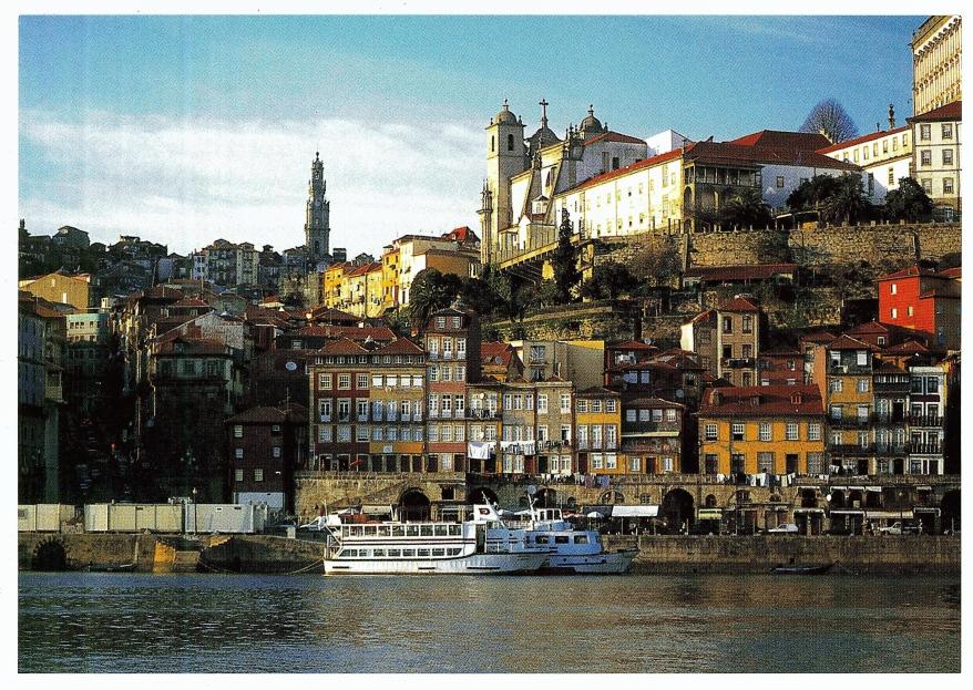 Porto Ribeira waterfront postcard