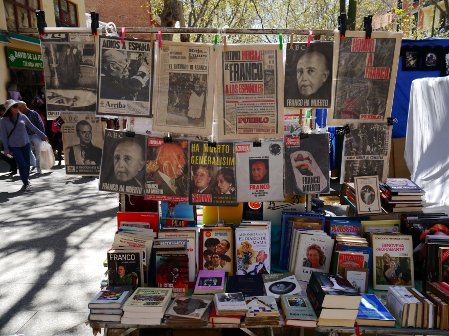 Newspapers of Franco's death in El Rastro market - Take photos of interesting objects that tell a powerful story, and then the aesthetic qualities aren't nearly so important