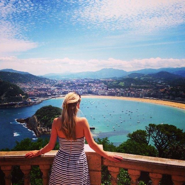 San Sebastián view over Playa Concha