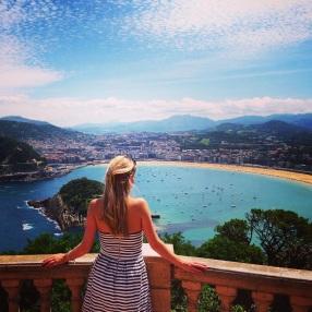 View over San Sebastian