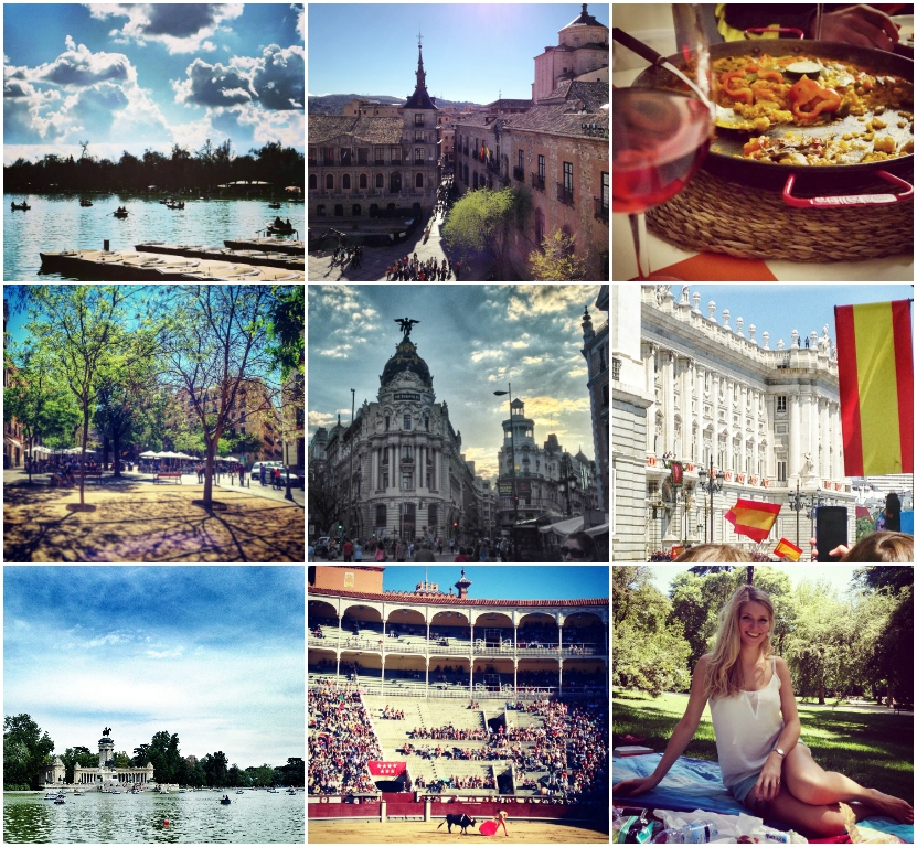 Madrid travel blogger photo collage