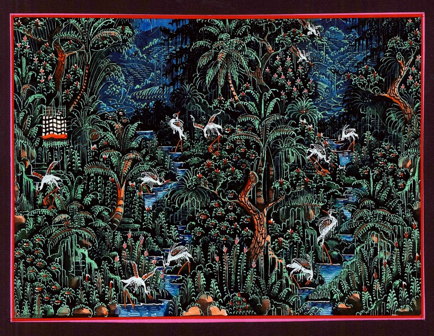 Balinese Batuan Painting forest
