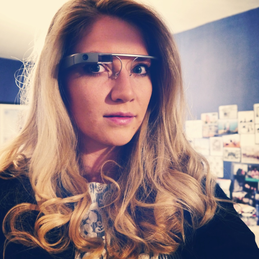 Girl wearing Google Glass London