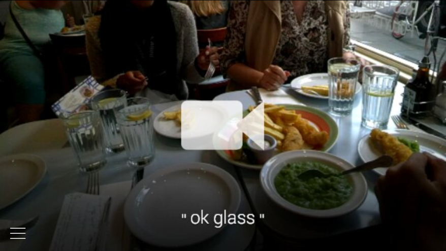 London through Google Glass screenshot